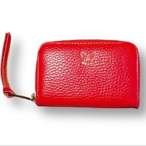 Johnny Was small zip around wallet red leather